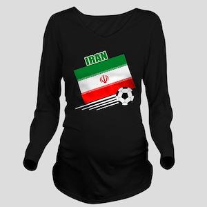 Iran soccer  ball dr Long Sleeve Maternity T-Shirt