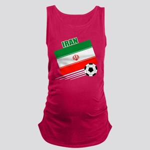 Iran soccer  ball drk Maternity Tank Top