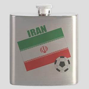 Iran soccer  ball drk Flask