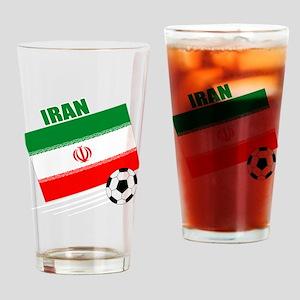 Iran soccer  ball drk Drinking Glass