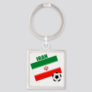 Iran soccer  ball drk Square Keychain