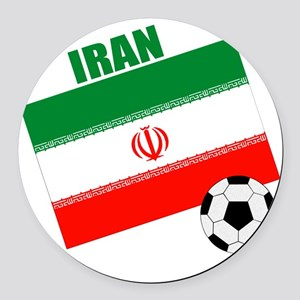 Iran soccer  ball drk Round Car Magnet