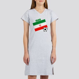 Iran soccer  ball drk Women's Nightshirt