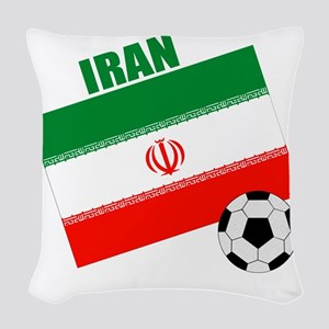 Iran soccer  ball drk Woven Throw Pillow