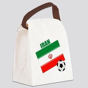 Iran soccer  ball drk Canvas Lunch Bag