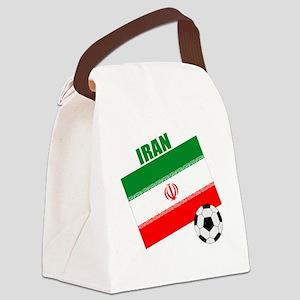 Iran soccer  ball drk Canvas Lunch Bag