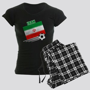 Iran soccer  ball drk Women's Dark Pajamas