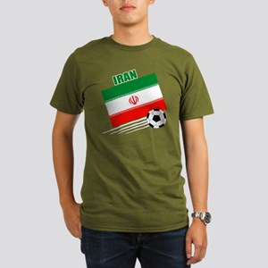 Iran soccer  ball drk Organic Men's T-Shirt (dark)