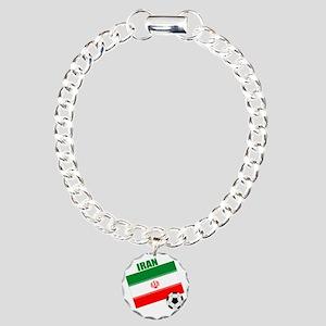 Iran soccer  ball drk Charm Bracelet, One Charm