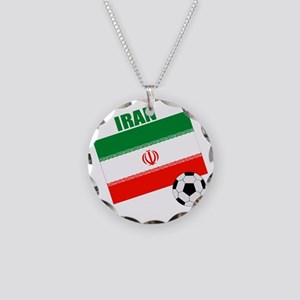 Iran soccer  ball drk Necklace Circle Charm