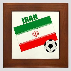 Iran soccer  ball drk Framed Tile