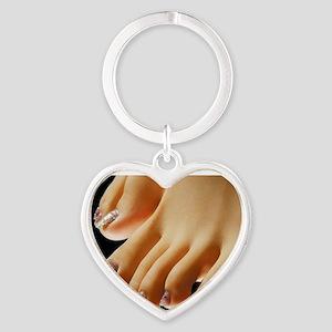 footfetishtee03 Heart Keychain