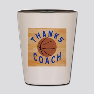 Thanks Basketball Coach Gift Mousepad Shot Glass
