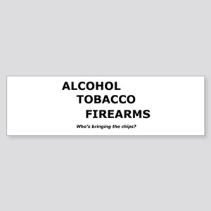 Funny atf bumper stickers cafepress atf and chips bumper sticker colourmoves