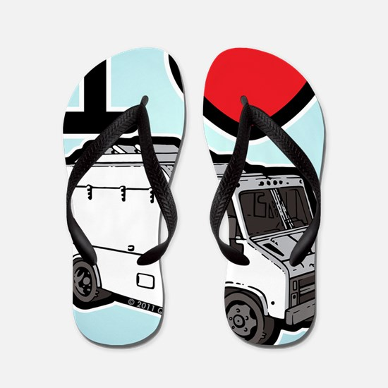 16_FoodTruck_ILove_BG Flip Flops