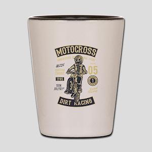 Motorcross dirt bike racing Shot Glass