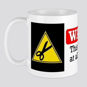 fabric warning magnet Mug