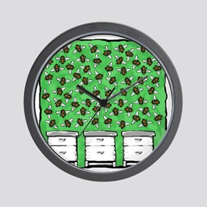 Bees Around the Hives Wall Clock