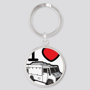 16_FoodTruck_ILove Round Keychain