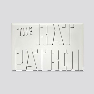 Rat-Patrol-Logo-white Rectangle Magnet