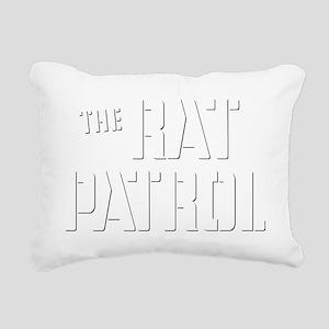 Rat-Patrol-Logo-white Rectangular Canvas Pillow