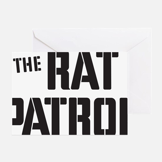 Rat-Patrol-Logo-black Greeting Card