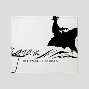 Logo-black-big Throw Blanket
