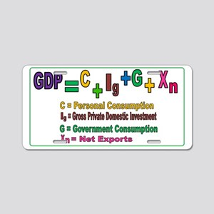 GDP poster Aluminum License Plate