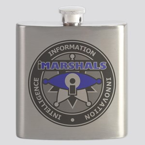 LOGO-iMARSHALS (gear) Flask
