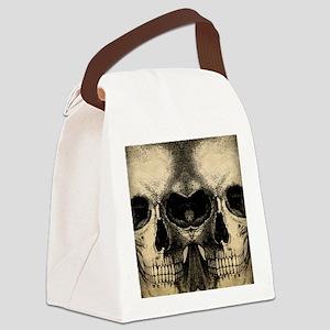 vintage_skull_flipflops Canvas Lunch Bag