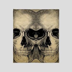 vintage_skull_flipflops Throw Blanket