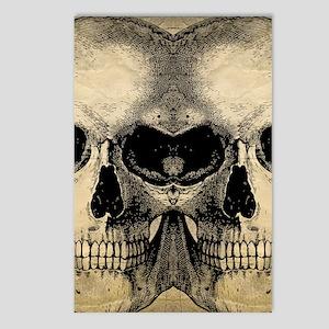 vintage_skull_flipflops Postcards (Package of 8)