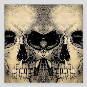 """vintage_skull_flipflops Square Car Magnet 3"""" x 3"""""""
