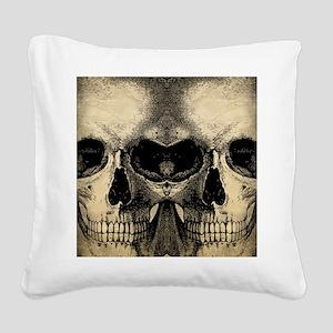 vintage_skull_flipflops Square Canvas Pillow
