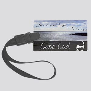 CAPEBLUILLUStemp_laptop_skin Large Luggage Tag