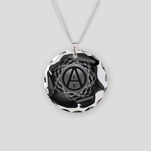 alf-black-01 Necklace Circle Charm