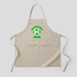 Soccer Mom florecent Green Apron