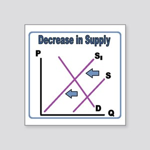 "Decrease in Supply Square Sticker 3"" x 3"""