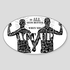 It All Gets Better Sticker (Oval)
