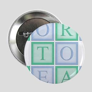 "Blue_Green_Born_to_read_5x5 2.25"" Button"