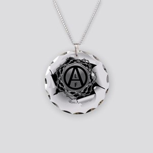 alf-white-01 Necklace Circle Charm