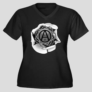 alf-white-01 Women's Plus Size Dark V-Neck T-Shirt