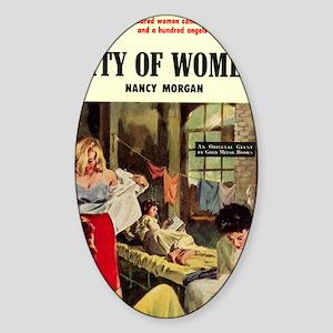 city of women Sticker (Oval)