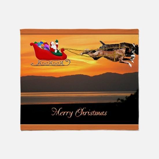 Christmas Card 1FullsizeBorder Throw Blanket