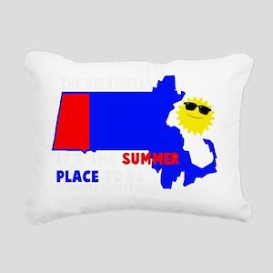 BERK SUMM PLACE TO BE BL Rectangular Canvas Pillow