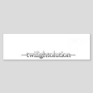 Twilightolution 2 White Silver Sticker (Bumper)