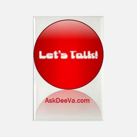 lets talk logo for mzdeeva1 Rectangle Magnet
