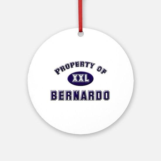 Property of bernardo Ornament (Round)