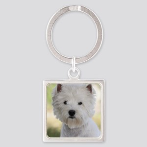 West Highland White Terrier 9Y788D Square Keychain