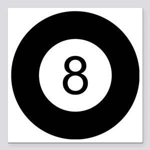 "8 Ball Square Car Magnet 3"" x 3"""